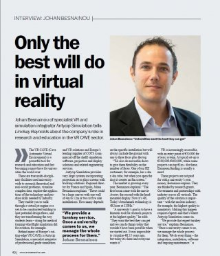 Photograph of VR article