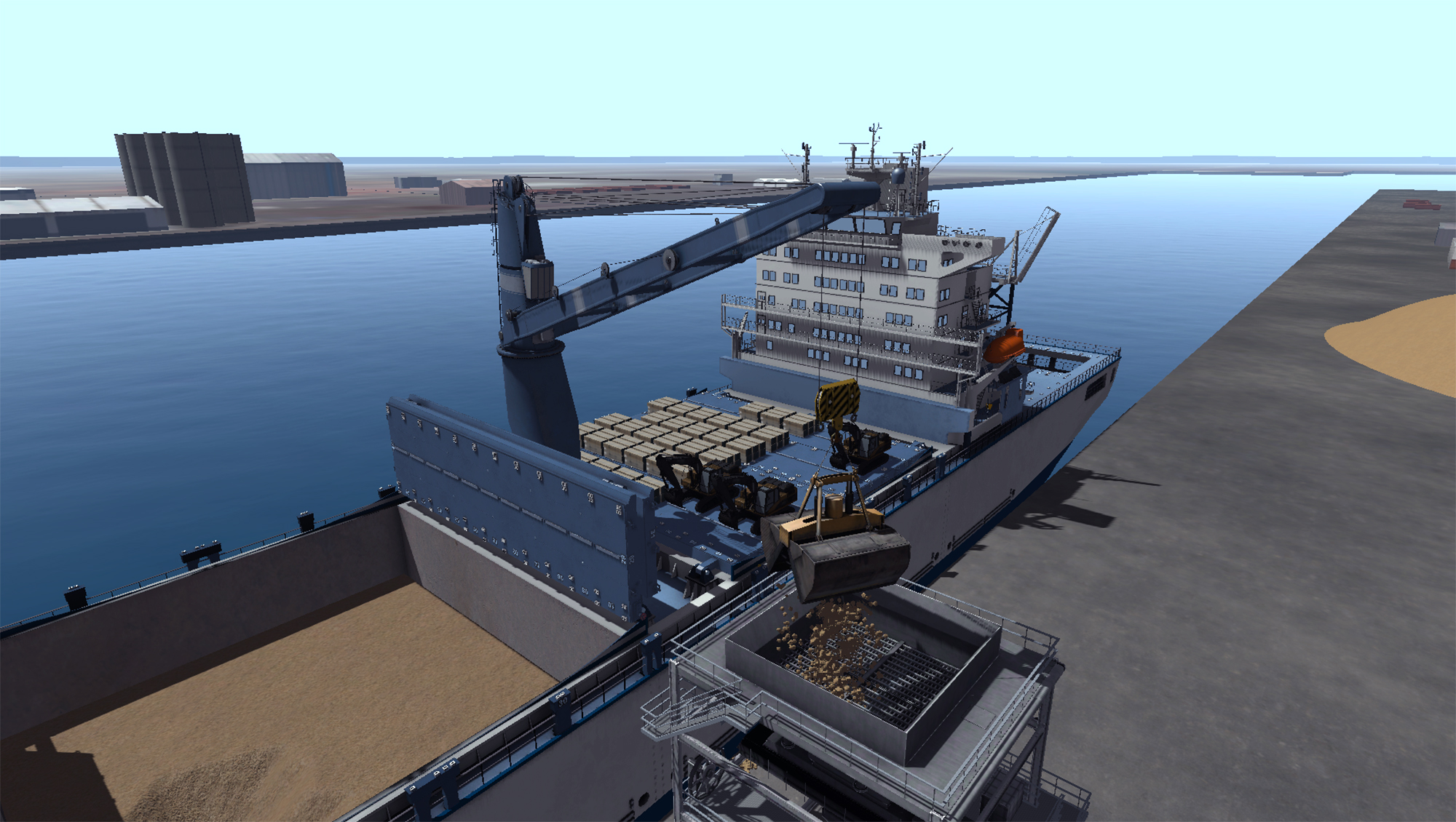 Simulation-based Training Solutions for Yard Equipment in Port Terminals